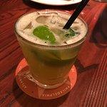 Pineapple basil cocktail