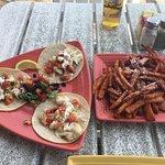 Fish Tacos & Sweet Potato Fries