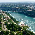 The Rainbow Bridge as seen from the top of the Skylon Tower!