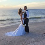 Mr & Mrs Andrew Trokey ❤️ Blessed by God Beautiful made Soulmates w a Beach Wedding God made Per