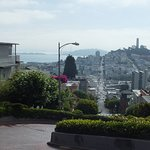 Stop at top of Lombard Street and little walk down the curved steep road.