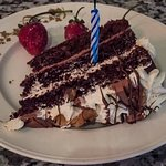 Surprise birthday cake to add the cherry on top to an incredible dining experience