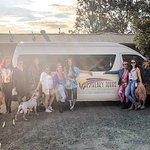 Our group of girls with the famous Heavenly Tours bus!