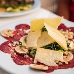 Carpaccio Starter, Maximilians Restaurant Meloneras. Italian Cuisine
