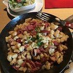 Schinkennockerl mit Salat 11.20 Euro