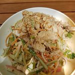 Chicken salad with sesam and vinaigrette-very tasty