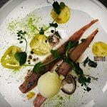 Makreel, groene tomaat, mierikswortel, bleekselderij