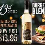 Limited Time Offer! Save $1 / bottle on Burger Blend Riesling Pinot Grigio