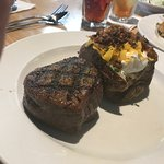 9 oz filet and loaded baked potato