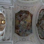 Basilica dell'Abbazia di Weingarten particolare del soffitto