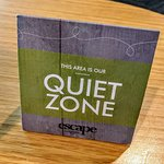 The quiet zone is anything but