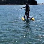 Riding on the hydrobike