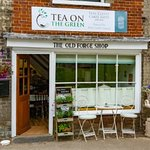 The ground floor, offering a small tea room, overlooking the renowned Village Green.