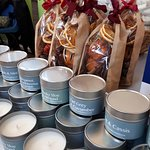 All candles are handmade on the premises.  Courses are offered too!