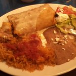 chimichanga plate from lunch menu