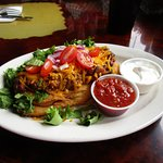 Taco on Indian fry bread