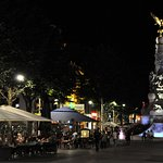 On a summernight, streets in Reims