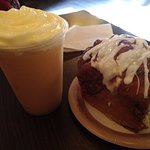 LeFou's Brew and Gaston's Warm Cinnamon Roll