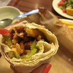 Doner tortilla with chicken meat