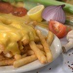 Mozzarella fries and whiz fries