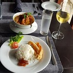 Mallis Seafood Curry with vegetable rice