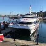 At the dock in Victoria, ready to leave