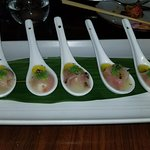 White fish, caviar, truffle