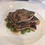 Calf's liver, gnocchi, broad beans, onions & sage butter (large)