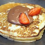 This will keep the kids happy! - Nutella and Strawberry Pancakes mmmmm.