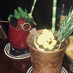 2 van de 4 non-alcoholic cocktails. (Not so lazy red cheeks & the last sober samoerai)