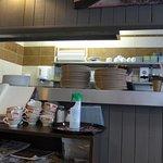 Brest, Creperie du Roi Gradlon, kitchen