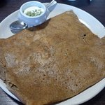 Brest, Creperie du Roi Gradlon, Salmon and potato pancake with tarragon sauce