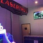 Outside the laser tag arena