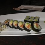 From Right to Left: Maki avocado, Shake fotu maki, Philadelphia roll