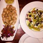 Chicken Blanco with Pesto Aioli and caesar salad
