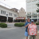 My wife and I downtown El Paso in front of Plaza Theatre