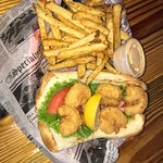 Best Po Boy in North Carolina, I've got this meal at dozens of places and this was the all time