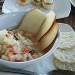Lobster ceviche, bruschetta & goat cheese/tomato salad