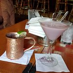 white chocolate rasberry martini and a moscow mule