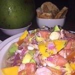 Salada de Polvo com Manga (espetacular!)