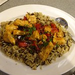 Special: Burbon Grilled Chiked over Wild Rice