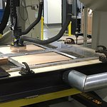 Laser doing the cutting