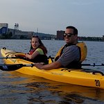 Here we are out on the lake in a tandem kayak.