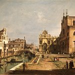 """Church of SS Giovanni e Paolo, Venice"" by Bellotto"