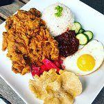 New Addition To our Menu - Nasi Lemak + Fried Chicken + Sunny side up egg
