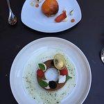 Pèche pochée et tarte citron revisitée