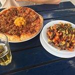 Roast Pork & Pawpaw Pizza and Loaded Kumara Fries