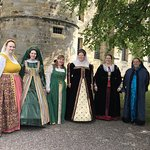 Warm welcome from Mary Queen of Scots and her ladies in waiting