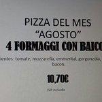 Pizza del mes Agosto