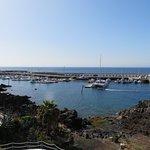 Looking down on Puerto del Carmen harbour